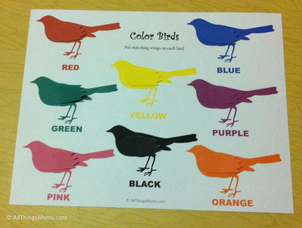 Printable Color Matching Game - All Things Moms