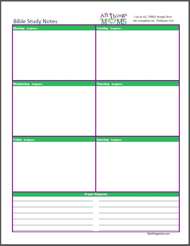 Home Organizer Free Printable All Things Moms – Free Printable Bible Study Worksheets