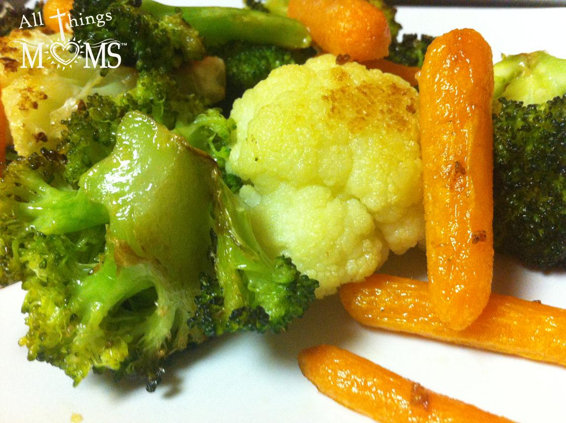 garlic roasted vegetables all things moms