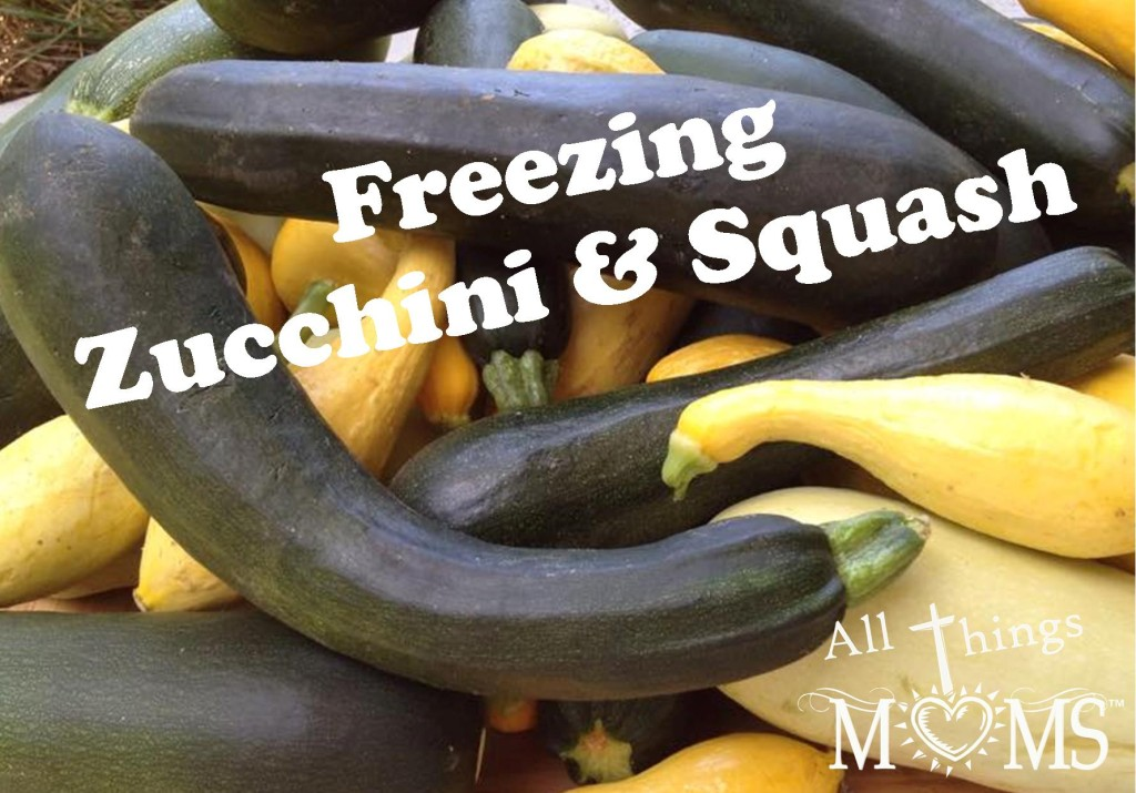 Freezing squash and zucchini