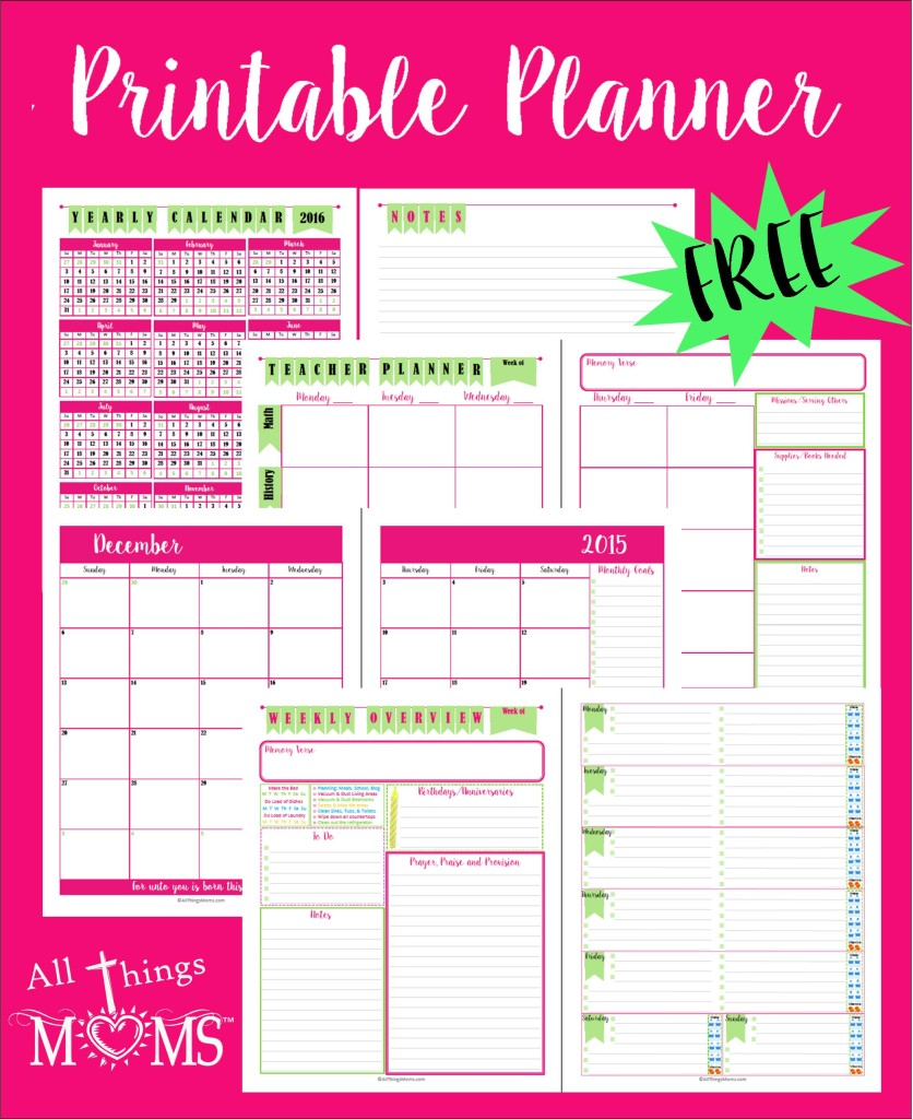 Exhilarating image for mom planner printable