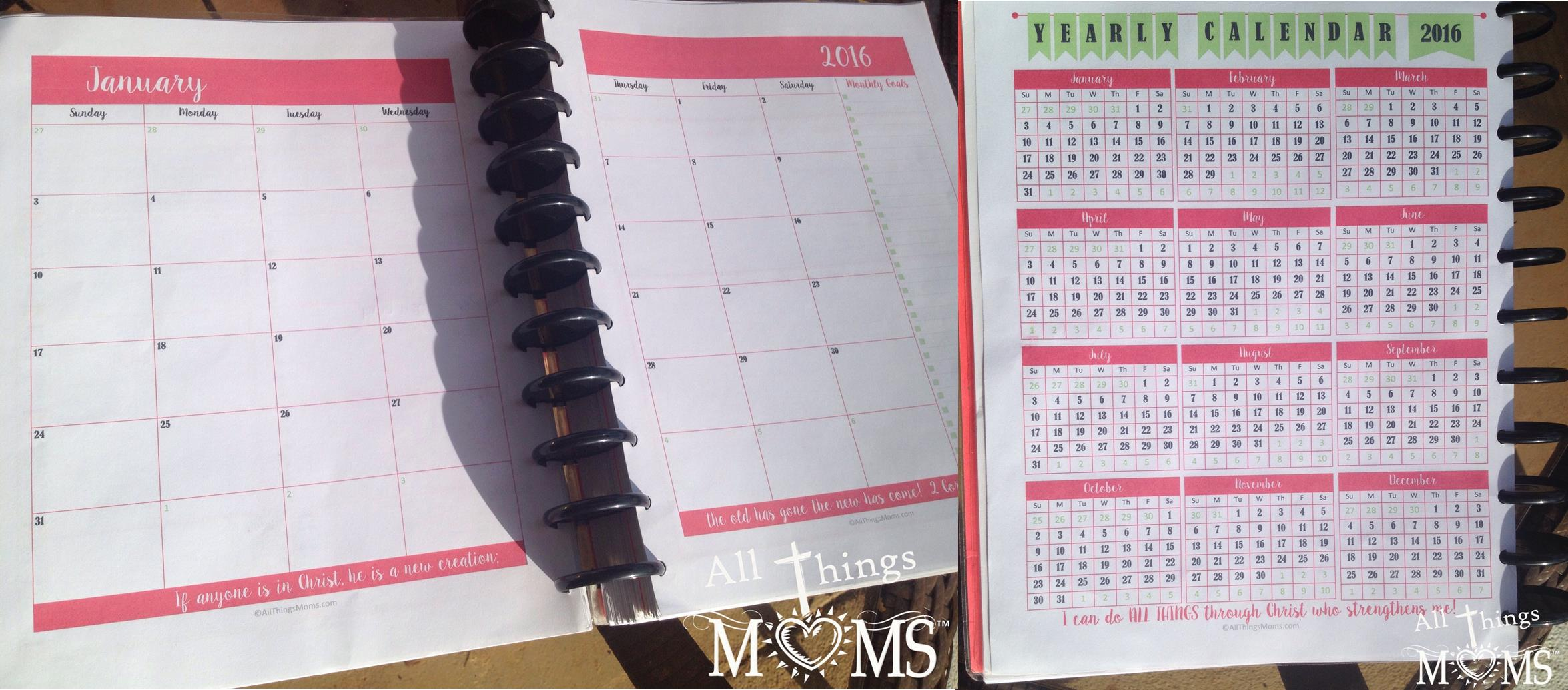 printable planner all things moms
